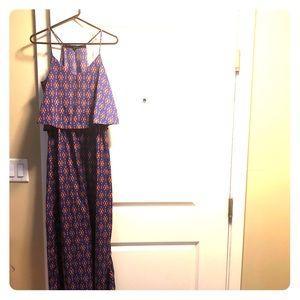 Long Purple Bebop Dress